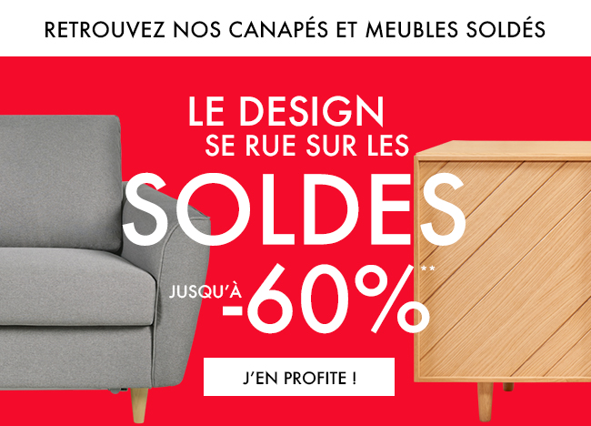 Le design se rue sur les soldes -20% -30% -60% sur une sélection de meubles et d'objets design*