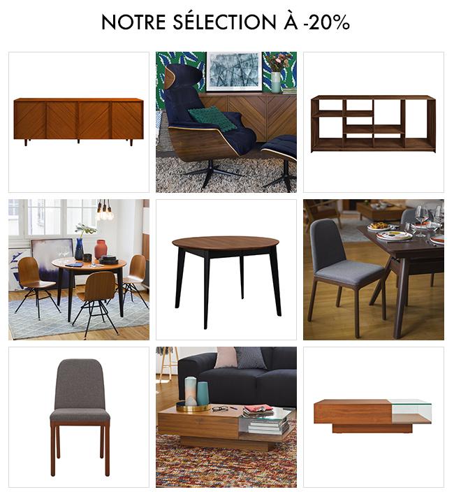 sélection de meubles en noyer à -20%