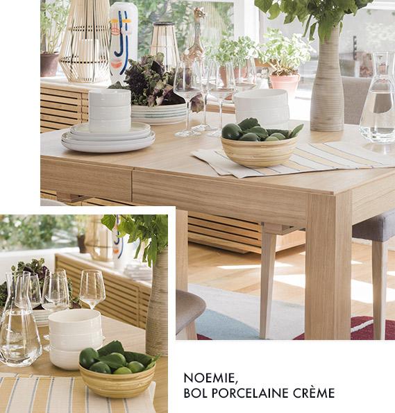 table Drio et bol Noémie